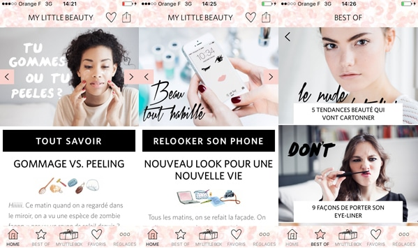 My Little Beauty, l'application pour rester belle en toutes circonstances